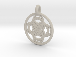 Thebe pendant in Natural Sandstone