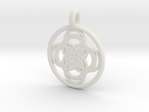 Thebe pendant in White Natural Versatile Plastic