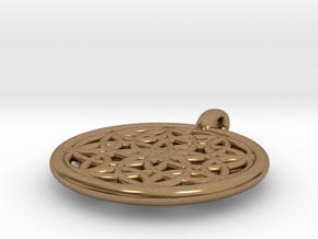 Metis pendant in Natural Brass