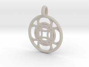 Kallichore pendant in Natural Sandstone