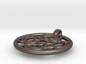 Thelxinoe pendant in Polished Bronzed Silver Steel