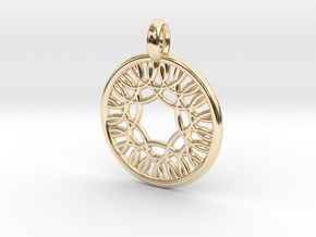 Herse pendant in 14K Yellow Gold