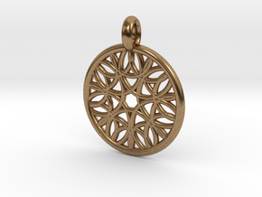 Cyllene pendant in Natural Brass