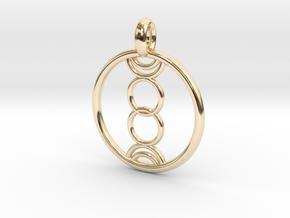 Eukelade pendant in 14K Yellow Gold