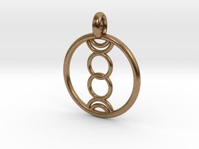 Eukelade pendant in Natural Brass