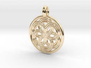 Thyone pendant in 14K Yellow Gold