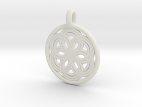 Thyone pendant in White Natural Versatile Plastic