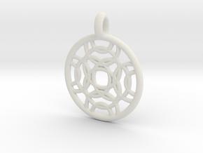 Erinome pendant in White Natural Versatile Plastic