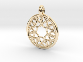 Eurydome pendant in 14K Yellow Gold