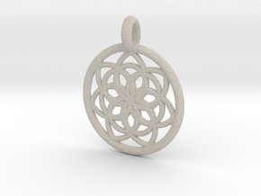 Kale pendant in Natural Sandstone