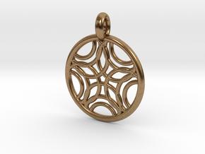 Sponde pendant in Natural Brass