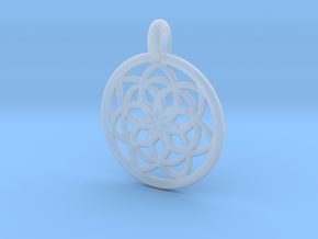 Kale pendant in Smooth Fine Detail Plastic