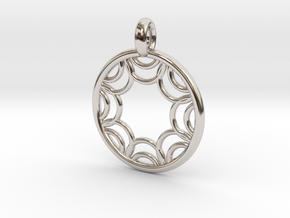 Euporie pendant in Platinum