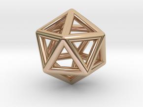 Icosahedron in 14k Rose Gold