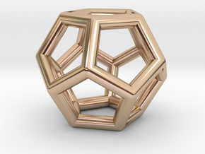 Dodecahedron in 14k Rose Gold