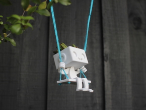 Hanging Planter Robbie the Robot Swing in Sandstone