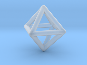 Octahedron in Smooth Fine Detail Plastic
