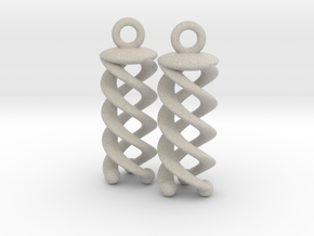 Triple Helix Earrings in Sandstone
