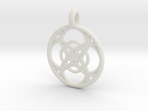 Chaldene pendant in White Natural Versatile Plastic