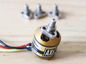 2217 motor CW/CCW adapters for DJI Self Tightening in Polished Bronzed Silver Steel