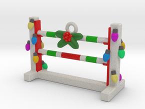 Agility Bar Jump Christmas Ornament in Full Color Sandstone