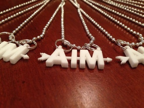 Aim Pendant in White Strong & Flexible Polished