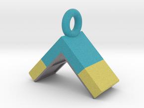 Agility A-Frame Pendant (Blue Version) in Full Color Sandstone
