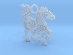 Year of the Horse: Lucky charm in Smooth Fine Detail Plastic