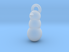 Snow Man christmas tree decoration in Smooth Fine Detail Plastic