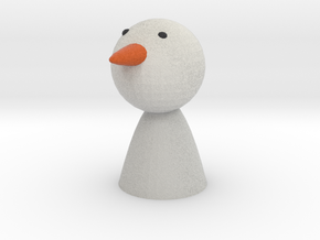 Oleg the Snow Man in Full Color Sandstone
