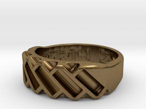 US10 Ring XVII: Tritium in Natural Bronze