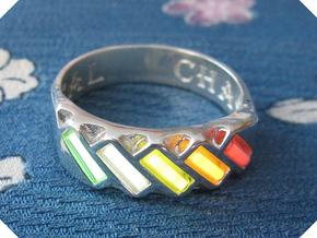 US10 Ring XVII: Tritium in Polished Silver