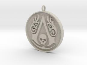 Assassin's Creed - Black Flag Medal Pendant in Natural Sandstone