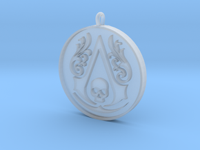 Assassin's Creed - Black Flag Medal Pendant in Smooth Fine Detail Plastic