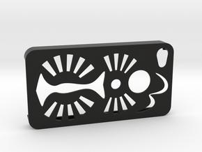 IPhone4Case in Black Natural Versatile Plastic