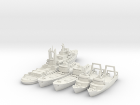 Lloydsman tug and trawlers 1/700 and 1/600 in White Strong & Flexible: 1:700