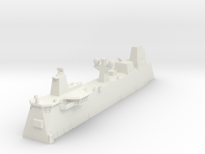 Canberra LHD Island 1/700 in White Natural Versatile Plastic
