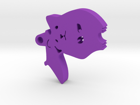 Hamster with Umbrella in Purple Strong & Flexible Polished