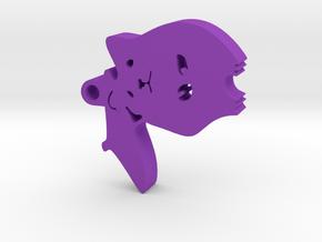 Hamster with Umbrella in Purple Processed Versatile Plastic