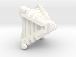 Sekhmet Assault Cruiser - 1:7000 scale in White Strong & Flexible Polished