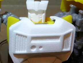 Gen. Tailgate (IDW Version) Chestplate in White Processed Versatile Plastic