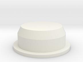 Cap for Salt and Pepper Shaker in White Natural Versatile Plastic