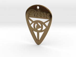 Guitar Pick (Pierre) in Polished Bronze