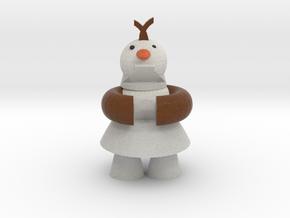 Olaf The Frozen Snow Man in Full Color Sandstone