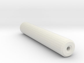 1911 Airsoft Mock Silencer (14mm Self-Cutting) in White Natural Versatile Plastic