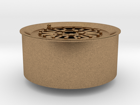 Car Rim for Model Scale 1/24 in Natural Brass