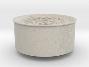 Car Rim for Model Scale 1/24 in Natural Sandstone