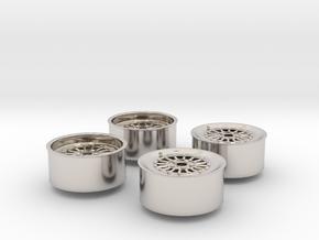 Rims For Scale 1-24 in Platinum