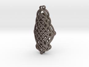 Celtic Knot Earrings in Polished Bronzed Silver Steel
