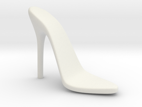 Women High Heel Base Left Shoe in White Natural Versatile Plastic